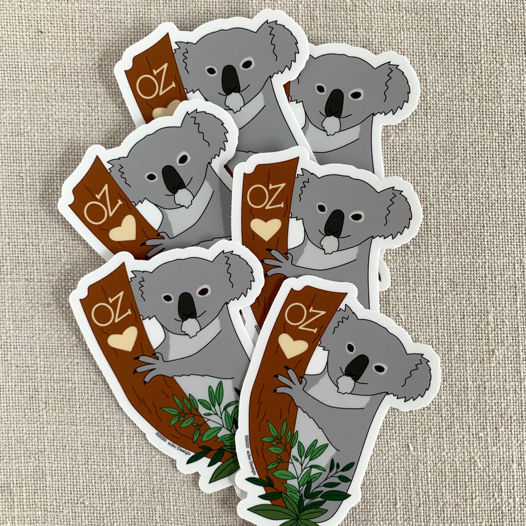 Koala Vinyl Sticker - Proceeds for WIRES