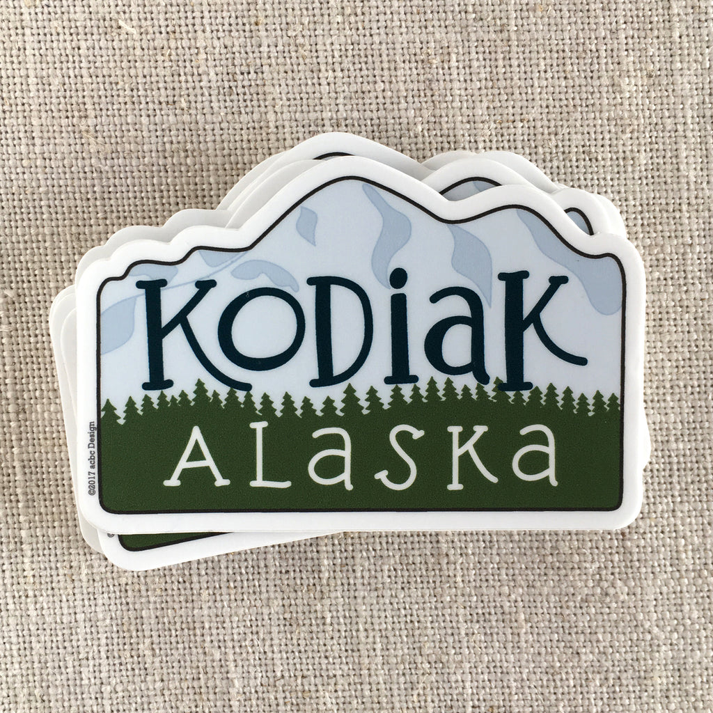 Kodiak Alaska Vinyl Sticker