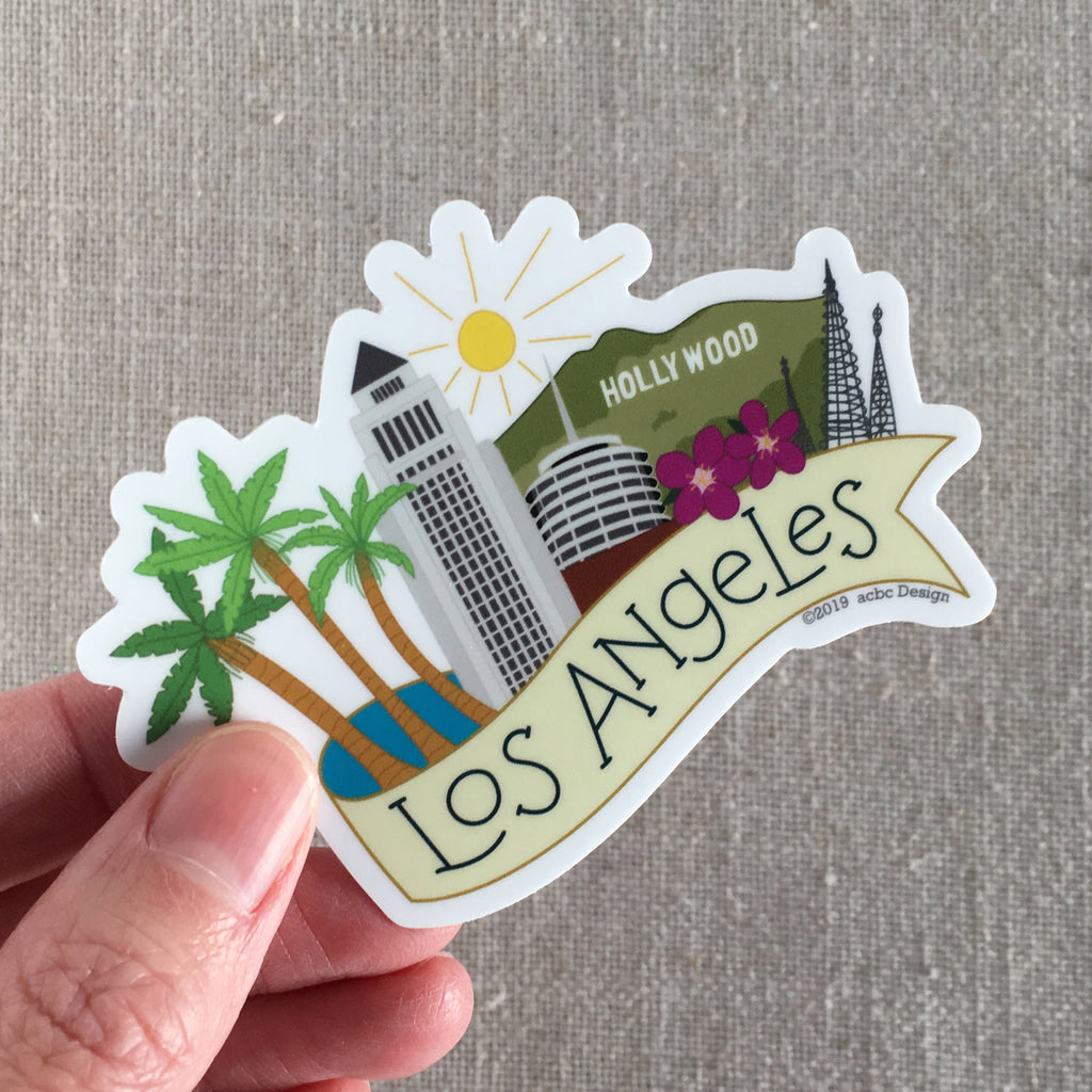 Los Angeles California Vinyl Sticker
