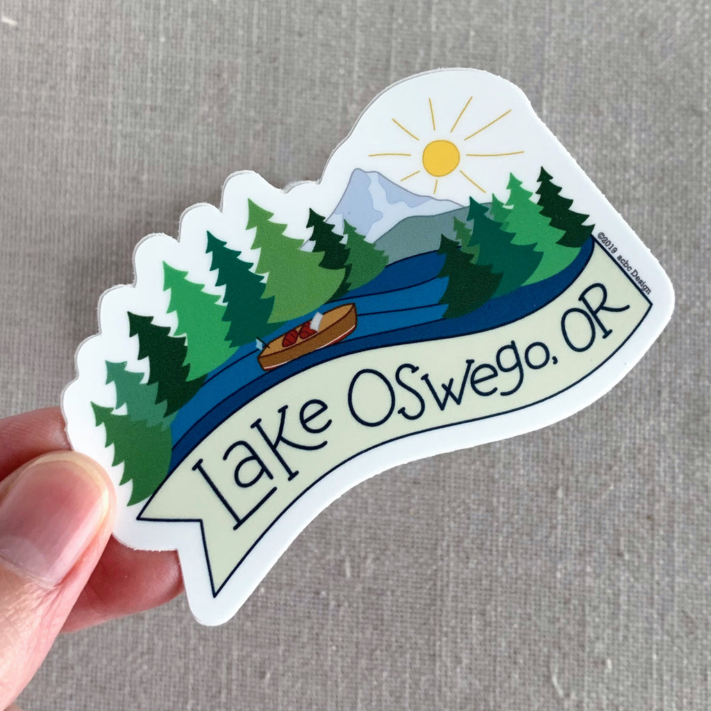 Lake Oswego Oregon Vinyl Sticker