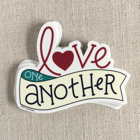 Love One Another Vinyl Sticker