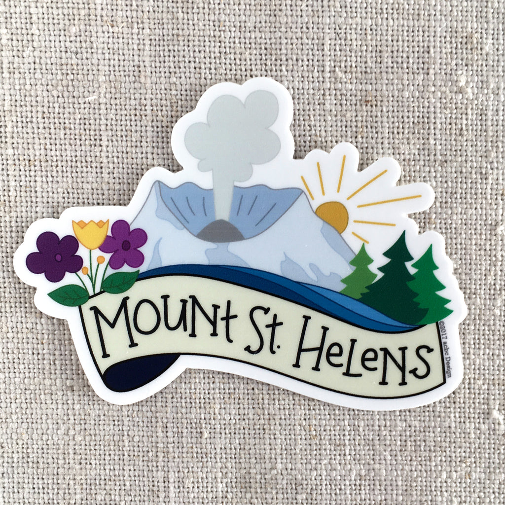 Mount St Helens Vinyl Sticker