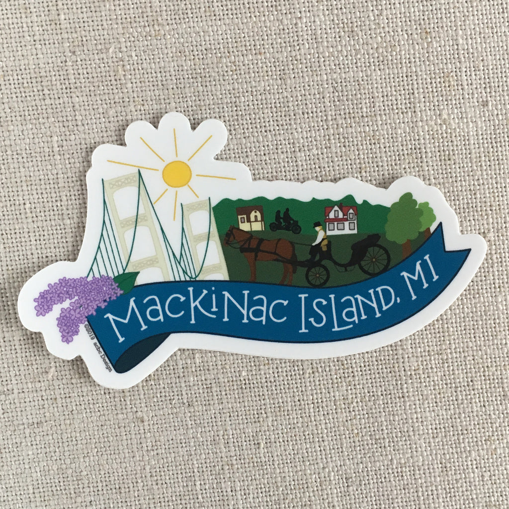 Mackinac Island, Michigan Vinyl Sticker