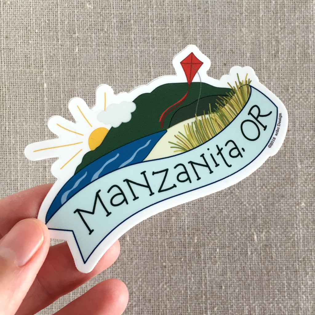 Manzanita, OR Vinyl Sticker