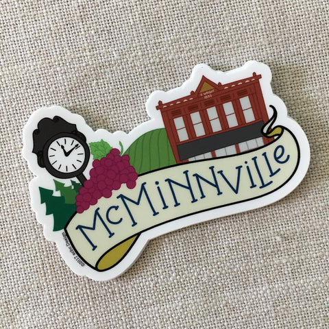 McMinnville Oregon Vinyl Sticker
