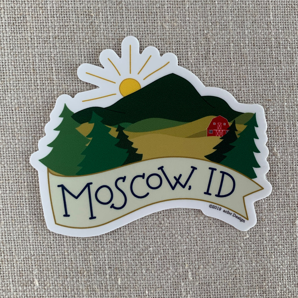Moscow, Idaho Vinyl Sticker