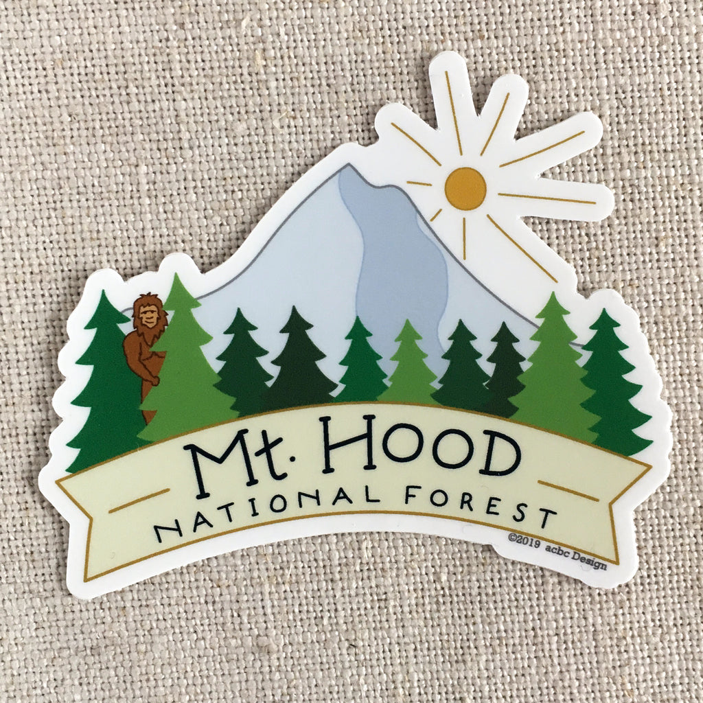 Mt Hood National Forest Vinyl Sticker