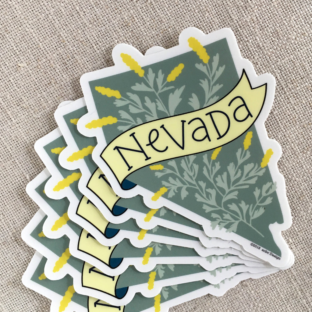 Nevada State Vinyl Sticker