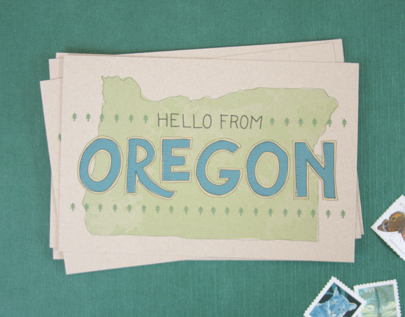 Hello from Oregon Postcards / Set of 6