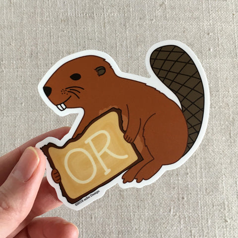 Oregon Beaver Sticker