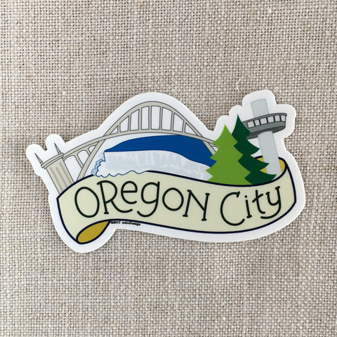 Oregon City Oregon Vinyl Sticker