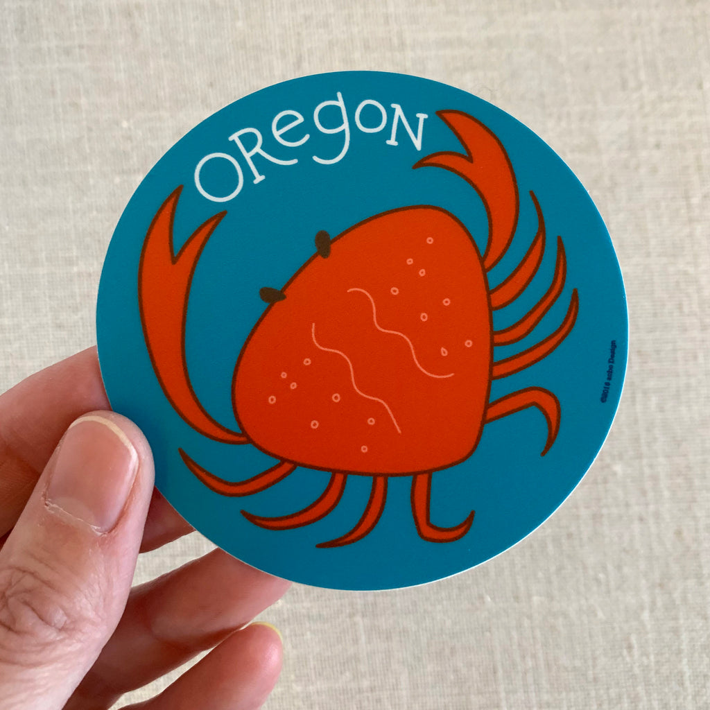 Oregon Crab Vinyl Sticker
