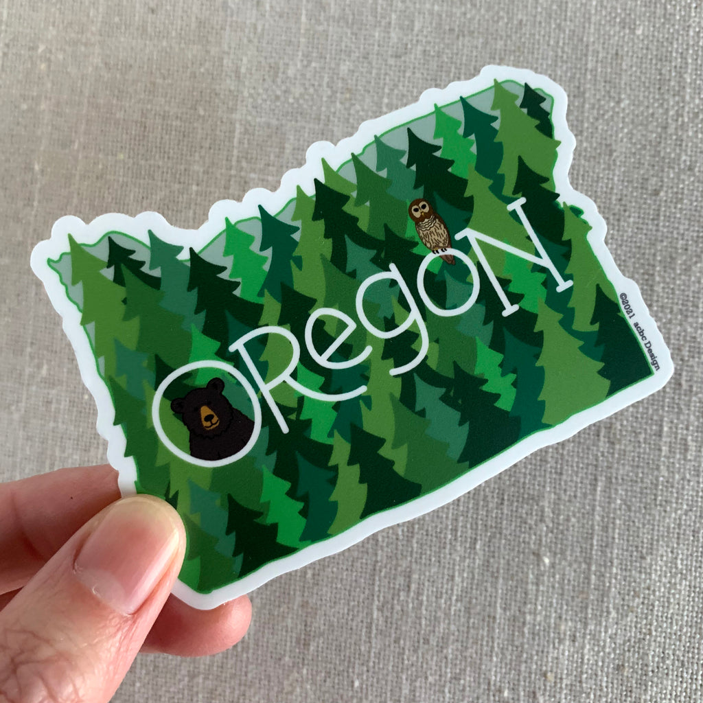 Oregon Forest Vinyl Sticker