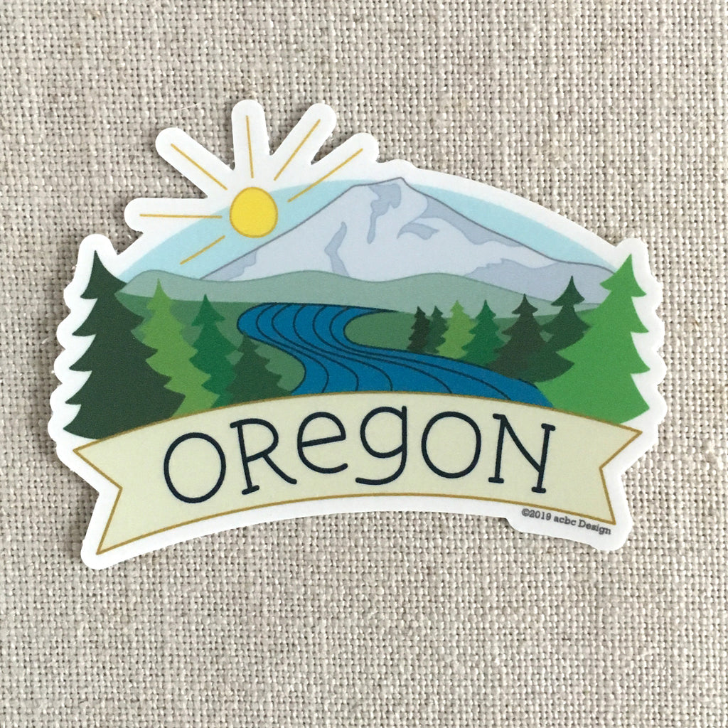 Oregon Mt Bachelor Vinyl Sticker