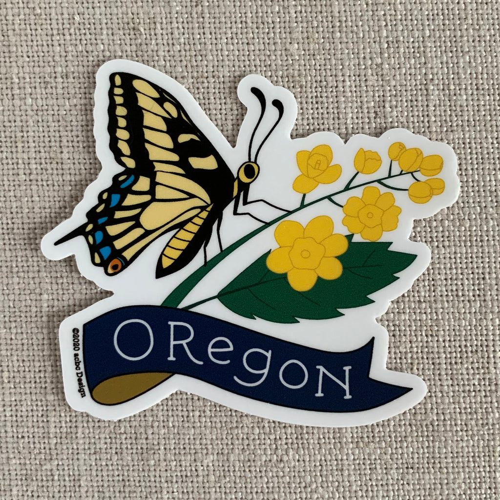 Oregon Swallowtail Butterfly Vinyl Sticker