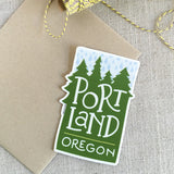 Portland Oregon Rain Vinyl Sticker