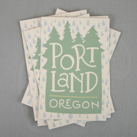 Portland Oregon Rain Postcards / Set of 6