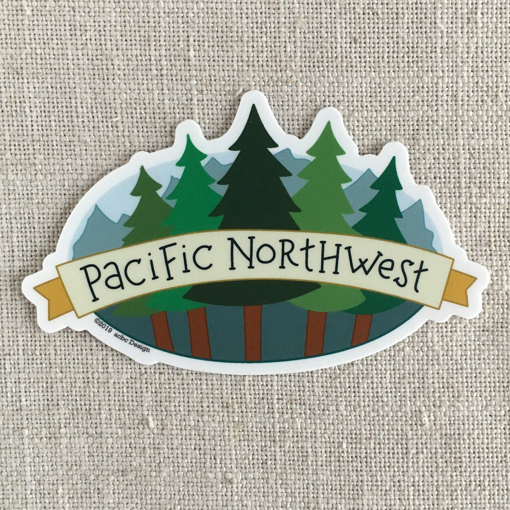 Pacific Northwest Trees Sticker