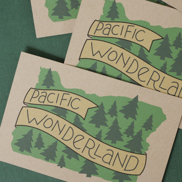 Pacific Wonderland Illustrated Postcards / Set of 6