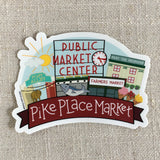 Pike Place Market Vinyl Sticker