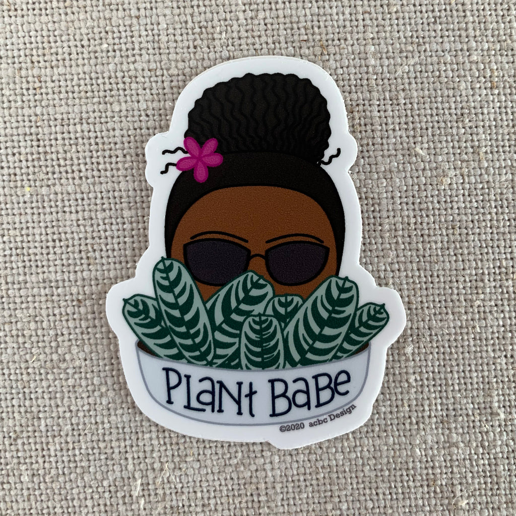 Plant Babe Black Woman Sticker