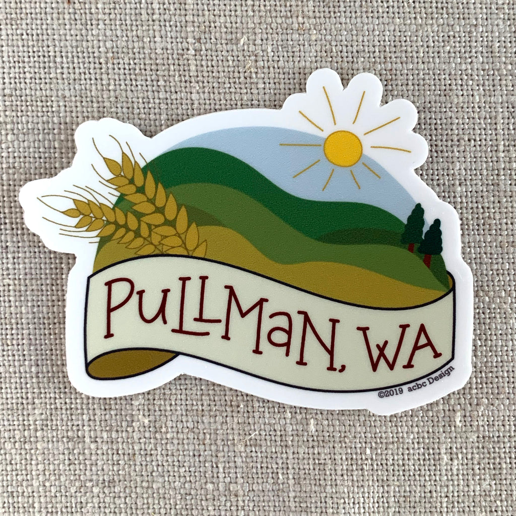 Pullman, Washington Vinyl Sticker