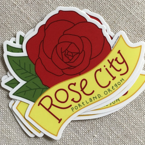 Rose City Vinyl Sticker / Portland, Oregon Sticker
