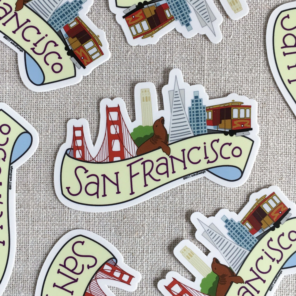 San Francisco Vinyl Sticker