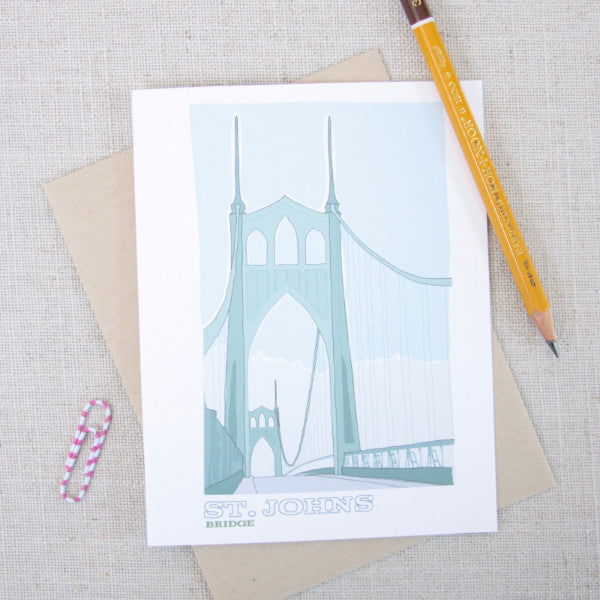 St Johns Bridge Note Card