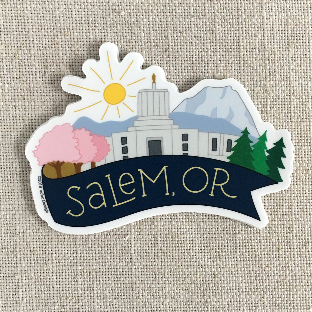 Salem, OR Vinyl Sticker