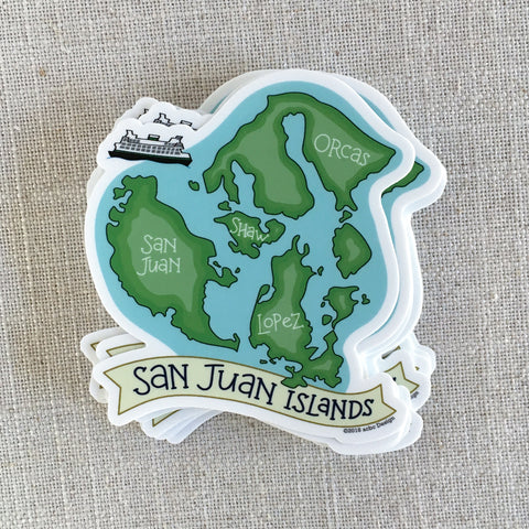 San Juan Islands Vinyl Sticker