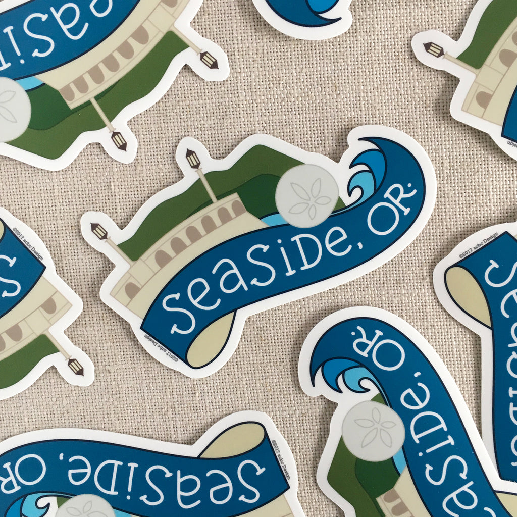 Seaside, Oregon Vinyl Sticker