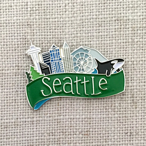Seattle Skyline Lapel Pin
