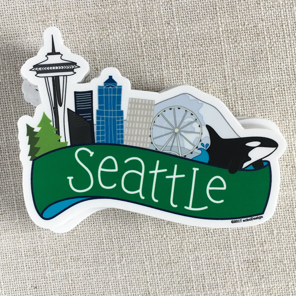 Seattle Skyline Vinyl Sticker