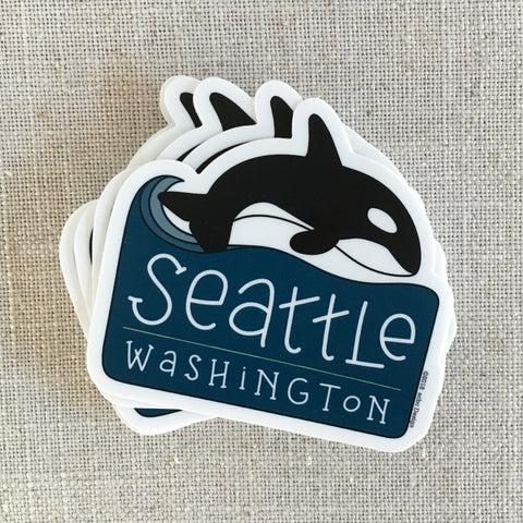 Seattle Whale Vinyl Sticker