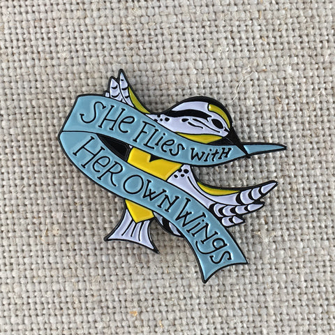 She Flies with Her Own Wings Lapel Pin