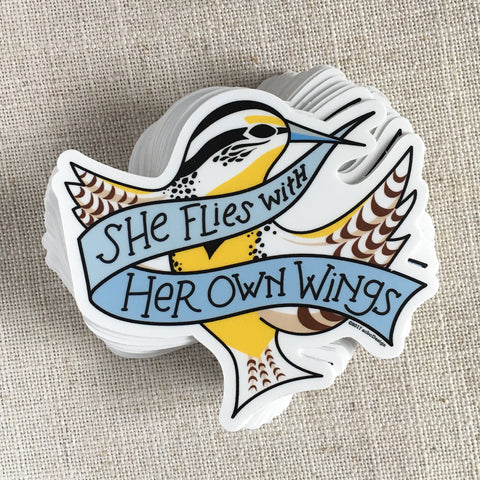 She Flies With Her Own Wings Vinyl Sticker