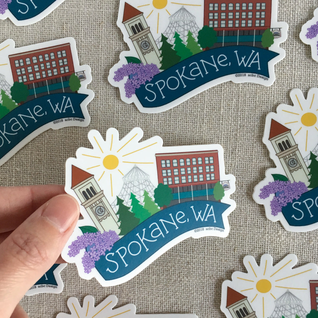 Spokane Washington Vinyl Sticker