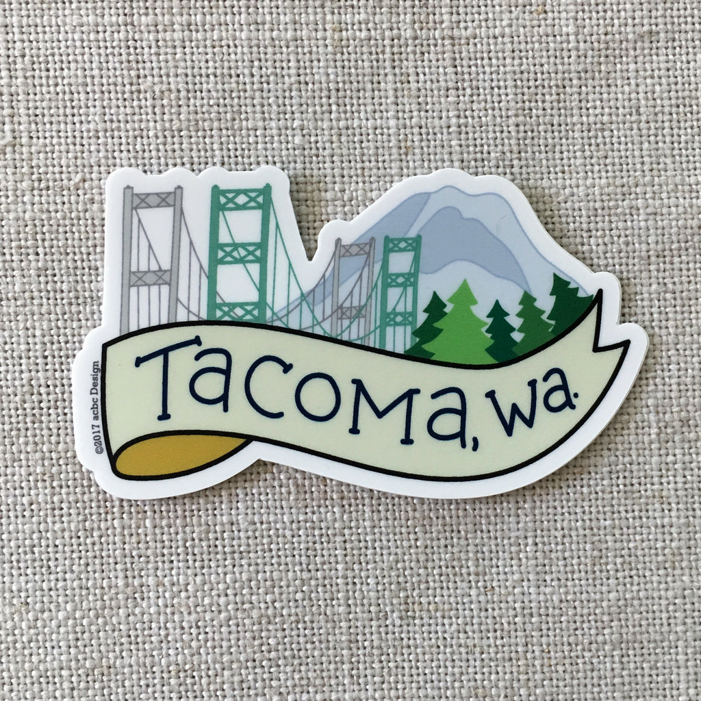 Tacoma Washington Vinyl Sticker