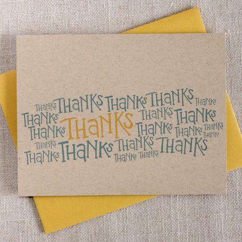 Thanks a Bunch / Thank You Note Card