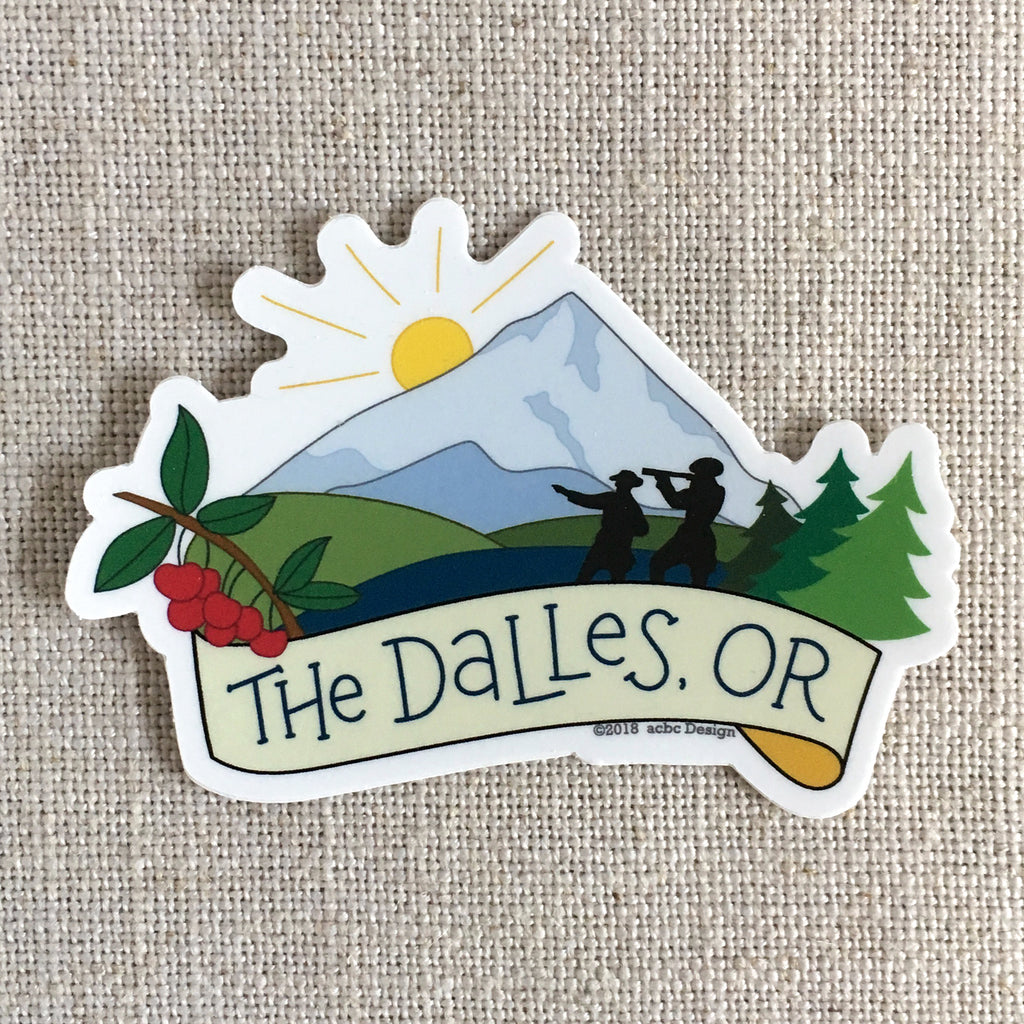 The Dalles Oregon Sticker