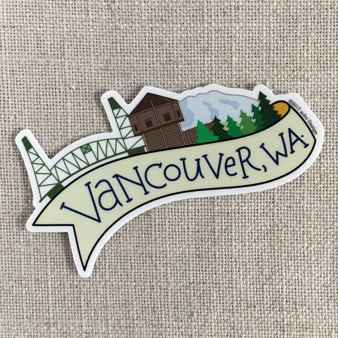Vancouver Washington Vinyl Sticker