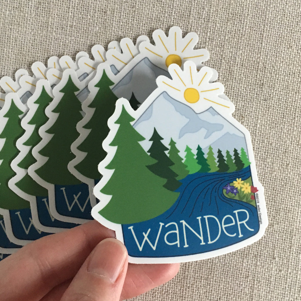 Wander Vinyl Sticker