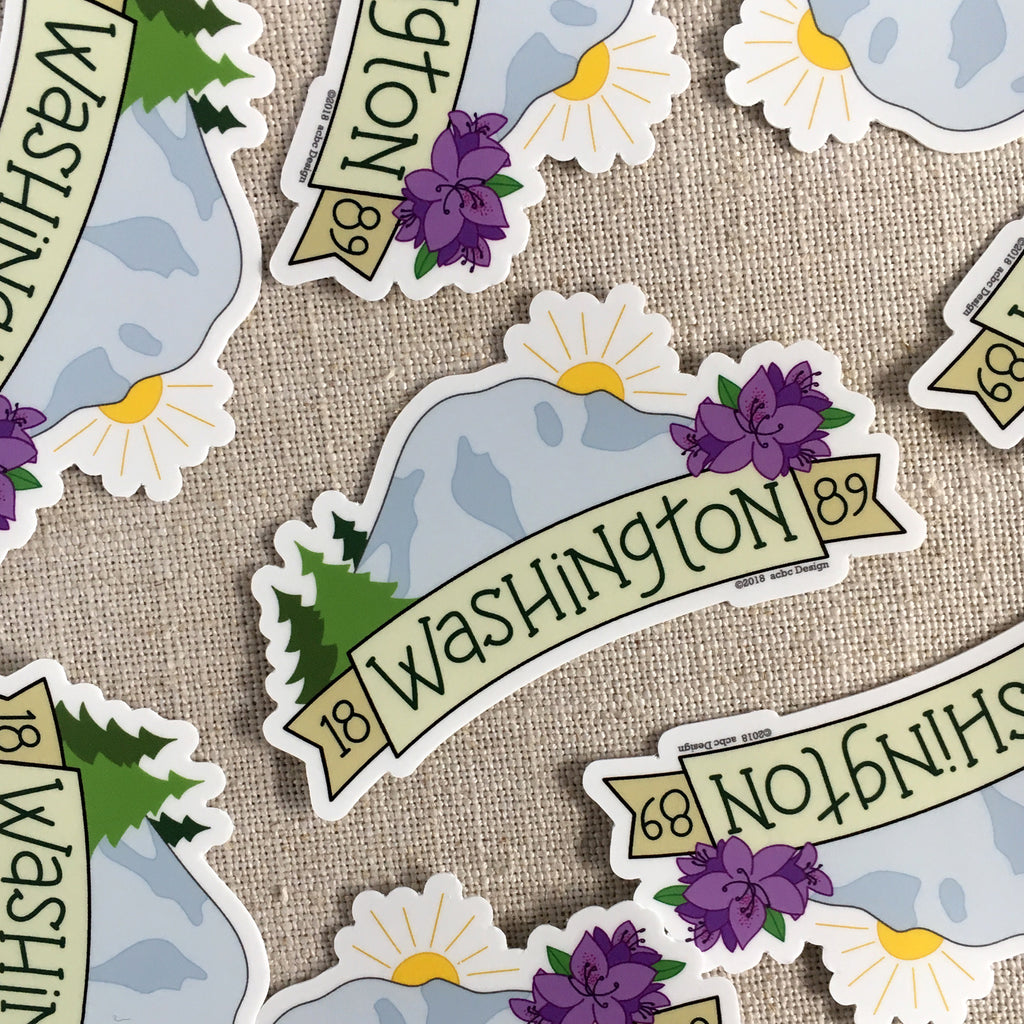 Washington 1889 Vinyl Sticker