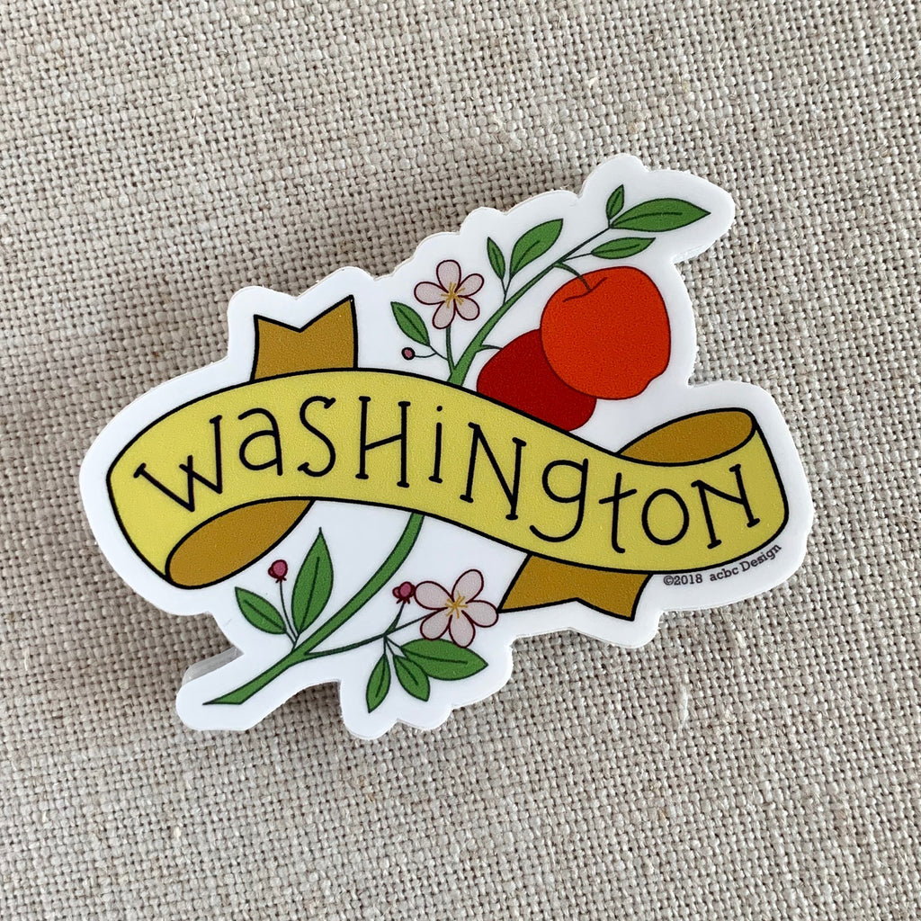 Washington State Apples Vinyl Sticker