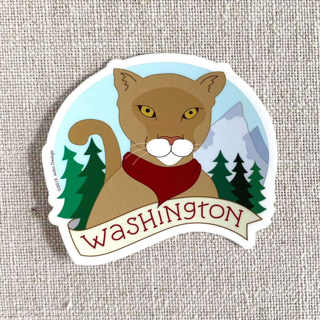 Washington Cougar Vinyl Sticker