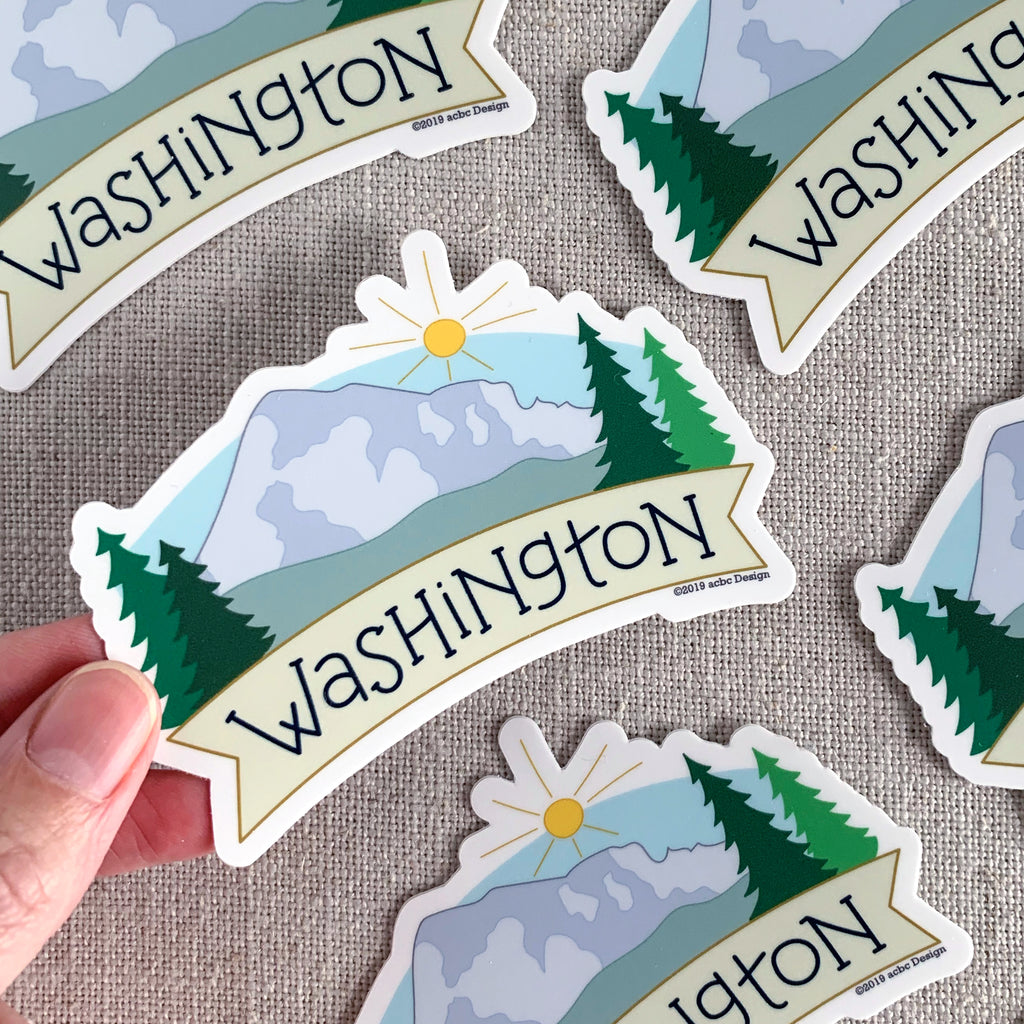 Washington Mt Rainier Vinyl Sticker