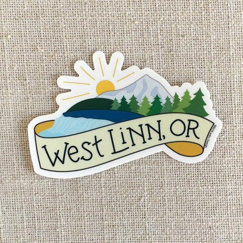 West Linn, OR Vinyl Sticker