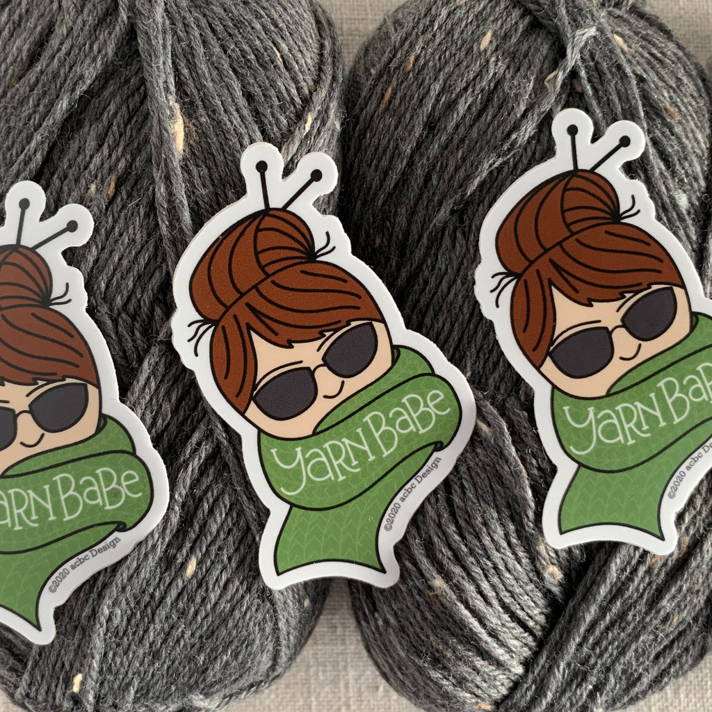 Yarn Babe Brunette Vinyl Sticker