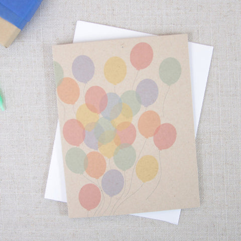 Rainbow Balloons Birthday Card